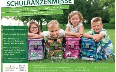 Schulranzenmesse 2020 – Donnerstag 12.03.2020