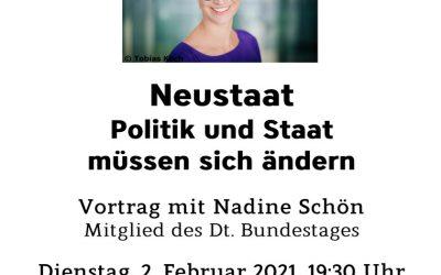 Online-Vortrag mit Nadine Schön