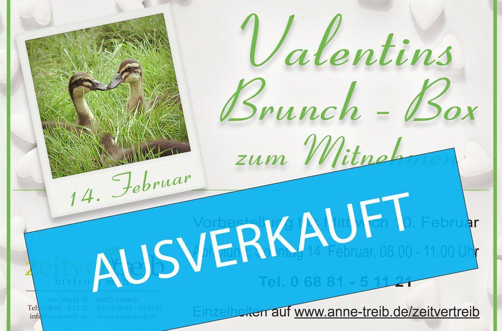 AUSVERKAUFT-Valentins-Brunch-Box zu Mitnehmen – Sonntag 14. Februar 2021