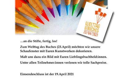Welttag des Buches – 23. April 2021 – Malwettbewerb