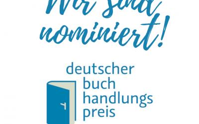 Nominierung Deutscher Buchhandlungspreis 2021