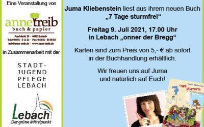 Lesung onner der Bregg – Juma Kliebenstein – 09.07.2021
